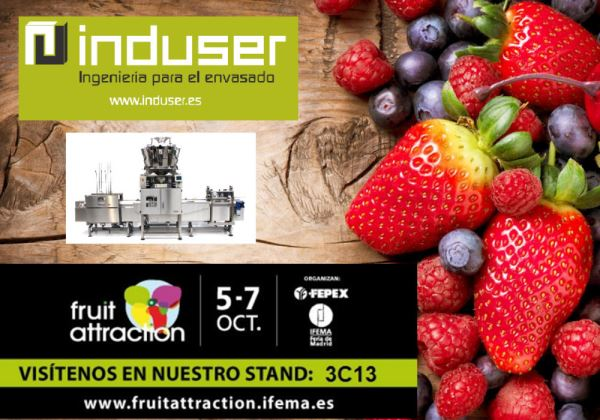 INDUSER PREPARA SU STAND PARA FRUIT ATTRACTION 2016. PABELLON 3 STAND 3C13